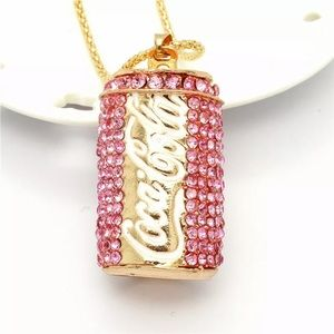 Betsey Johnson Coke Can Necklace